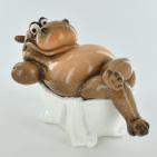 Cheeky Comical Hippo in the Bath | BonneBombe